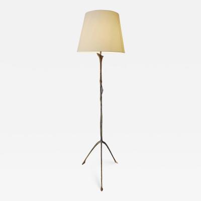Felix Agostini Rare bronze floor lamp by F lix Agostini 1957