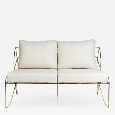 Felix Agostini Sculptural bronze two seats sofa in the style Of Felix Agostini