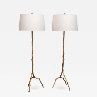Felix Agostini Style Tree Branch Form Floor Lamps