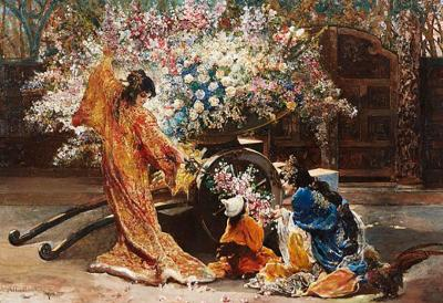 Felix Armand Heullant Exceptional French Japonisme Oil on Panel Painting by Felix Armand Heullant