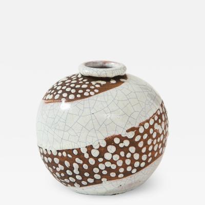 Felix Gete Small Art Deco sphere shaped Vase Felix Gete C A B France c 1930