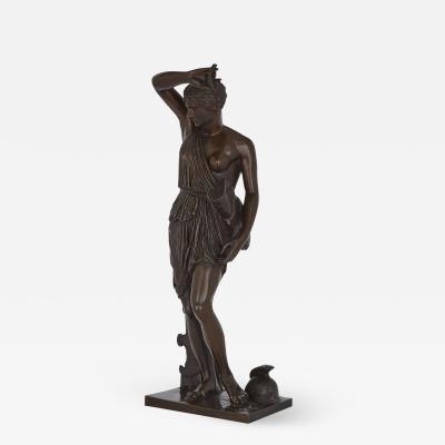 Ferdinand Barbedienne Antique Patinated Bronze Sculpture of Minerva by Ferdinand Barbedienne