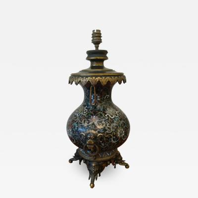 Ferdinand Barbedienne Ferdinand Barbedienne XIX Cloisonn Table Lamp