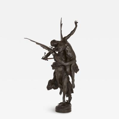 Ferdinand Barbedienne Gloria Victis bronze group by Barbedienne after a model by Merci