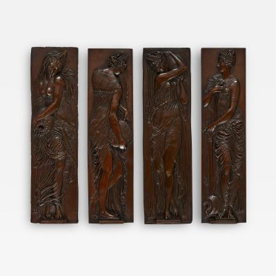 Ferdinand Barbedienne Set of four spelter plaques by Ferdinand Barbedienne