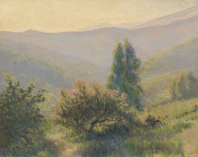 Ferdinand Burgdorff California Hillside at Dusk