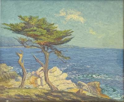 Ferdinand Burgdorff Lone Cypress by Ferdinand Burgdorff