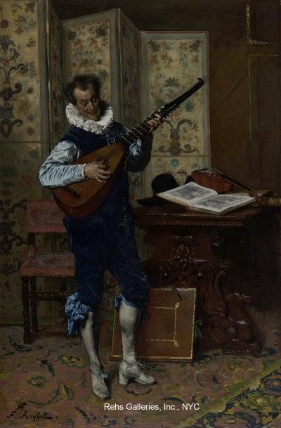 Ferdinand Leon Roybet The Lute Player