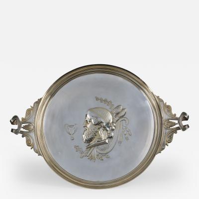 Ferdinand Levillain A Neo Grec Gilt and Silvered Bronze Tazza