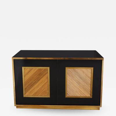Ferdinando Loffredo Brass Bamboo and Black Credenza or Sideboard by Ferdinando Loffredo Italy