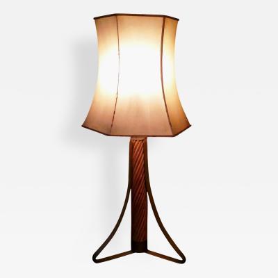 Ferdinando Loffredo Table Lamp in Brass and Bamboo