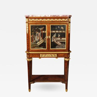 Fernand Kohl French Ormolu Mounted Mahogany and Coromandel Lacquer Cabinet by Fernand Kohl