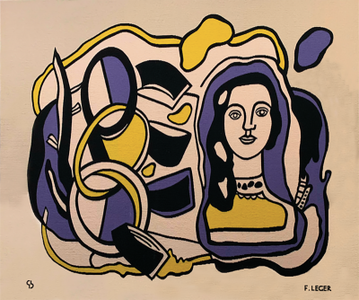 Fernand Leger Fernand L ger tapestry Composition with statuette Circa 1929