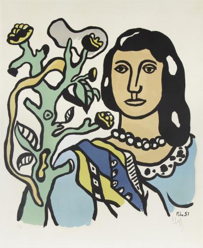 Fernand Leger Le Femme et la Fleur