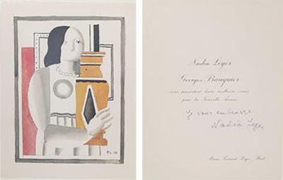 Fernand Leger Nadia Leger New Years Party Invitation