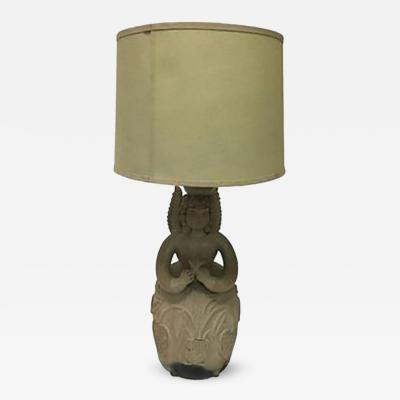 Fernando Botero Angel Pottery Lamp in the style of Botero Circa 1960s