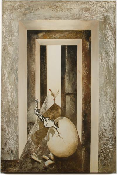 Fernando Vignoli Fernando Vignoli BRAZILIAN 1960 2016 Chicken or the egg painting