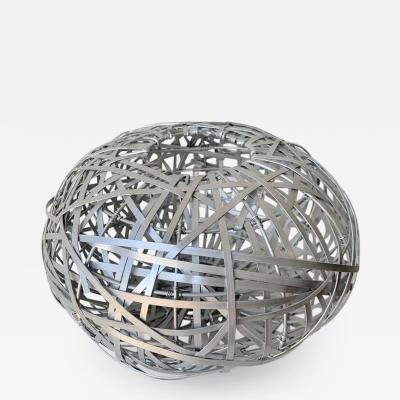 Fernando and Humberto Campana Brazilian Modern Sculptural Woven Aluminum Basket Attributed to Campana Brothers