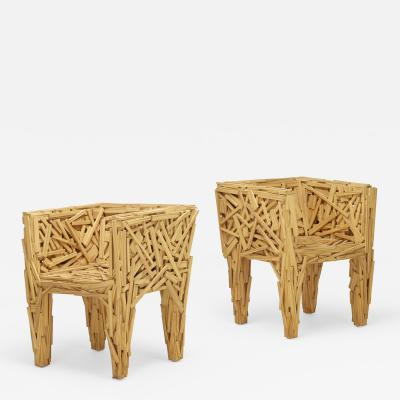 Fernando and Humberto Campana Early Favela chairs pair