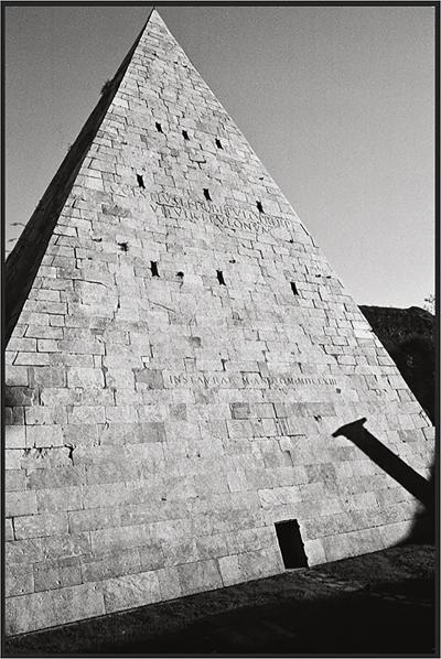 Ferrante Ferranti PYRAMID OF CAIUS CESTIUS ROME Fine Art black and white phototography