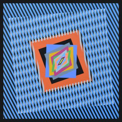 Ferruccio Gard Optical painting The Emotion on the Color in Op art by Ferruccio Gard