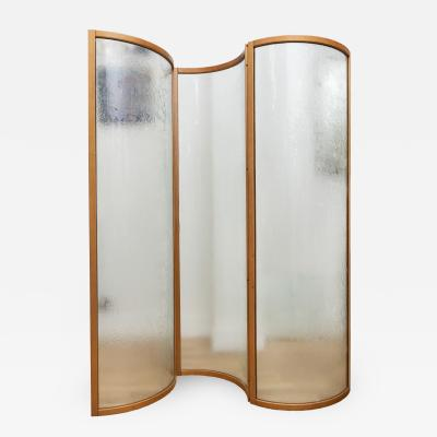 Fiam Glass Voyeur Screen Room Divider By Vittorio Livi For Fiam