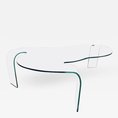 Fiam Italian Mid Century Modern Glass Cocktail Coffee Low Table