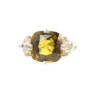 Fiery Natural Sri Lankan 6 5 Carat Zircon Sapphire Silver Ring
