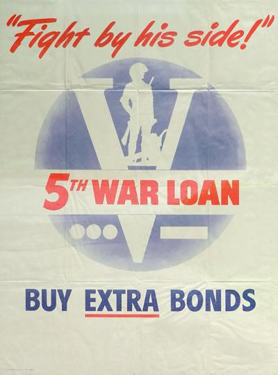 Fight By His Side War Bond Poster