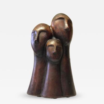Figurative Terracotta Sculpture of Family