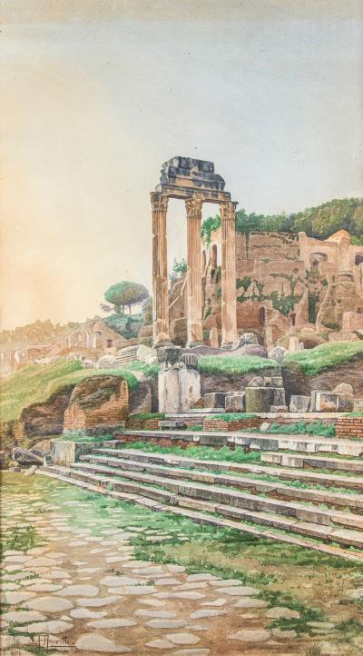 Filippo Anivitti Filippo Anivitti view of The Roman Forum with Ruins