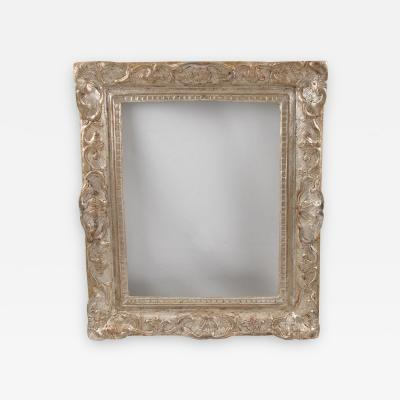 Fine 17th Century Louis XIV French Silver Leaf and Carved Oak Frame