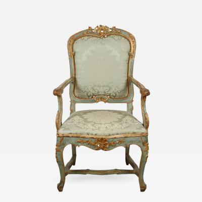 Fine 18th Century Venetian Rococo Arm Chair