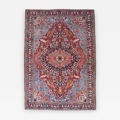 Fine Antique Heriz Small Carpet