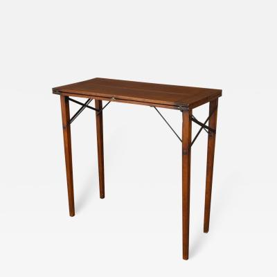 Fine Campaign Folding Table in Teak