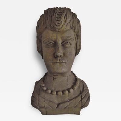 Fine Carved Bust of a 19th Century Lady with a Necklace