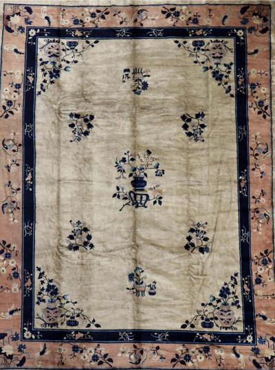 Fine Chinese Antique Art Deco Rug