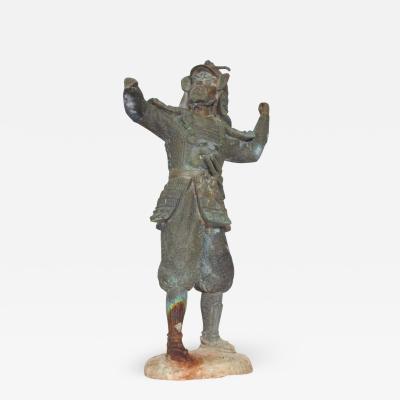 Fine Chinese Bronze Warrior Oriental Statue Vintage