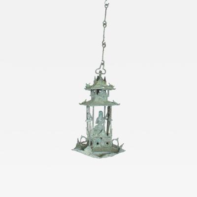 Fine Chinese Vintage Bronze Hanging Sculpture Oriental Ornate