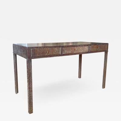Fine Danish Art Deco Desk Console in Limed Oak