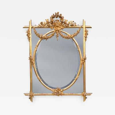 Fine English Mid 19th Century Carved Giltwood Mirror