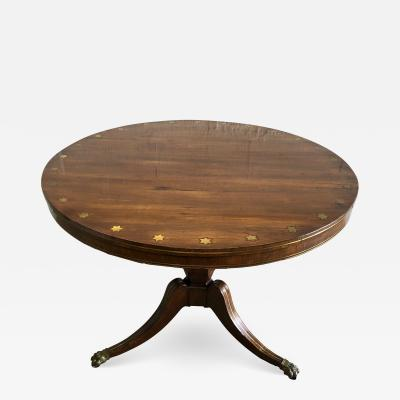 Fine English Regency Rosewood and Brass Inlaid Center Table