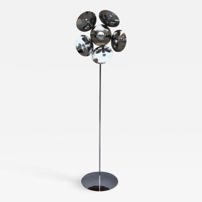 Fine French 1970s Adjustable Chrome Floor Lamp
