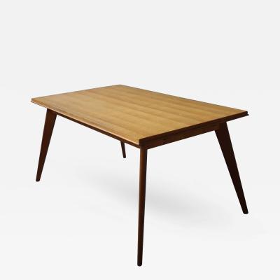 Fine French Art Deco Compass Oak Table