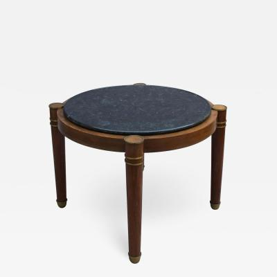 Fine French Large Art Deco Mahogany Gu ridon with Marble Top