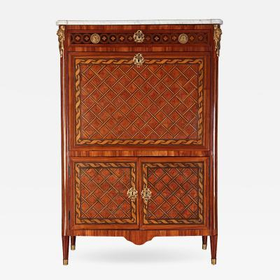 Fine French Ormolu Mounted Marqueterie Secretaire Abattant