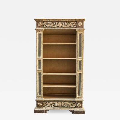Fine Italian 18th Century Painted Bookcase