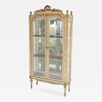 Fine Italian Paint and Gilt Vitrine