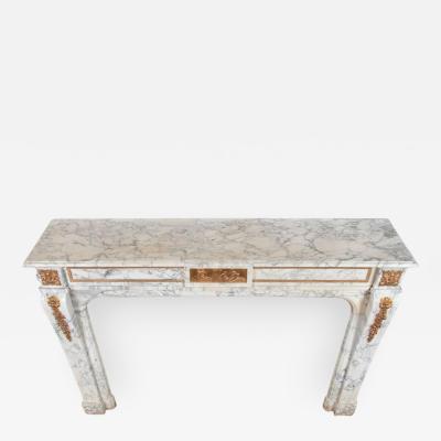 Fine Louis XVI style Arabescato Marble Mantle
