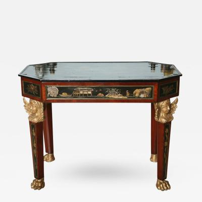 Fine Mahogany Parcel Gilt Chinoiserie Center Table